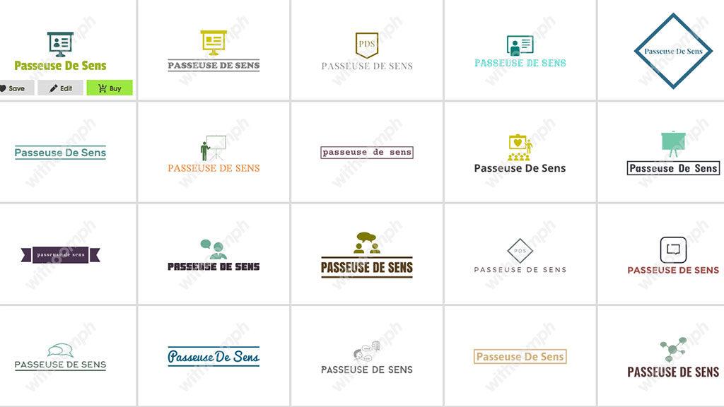 Passeuse de sens Start-up créer logo